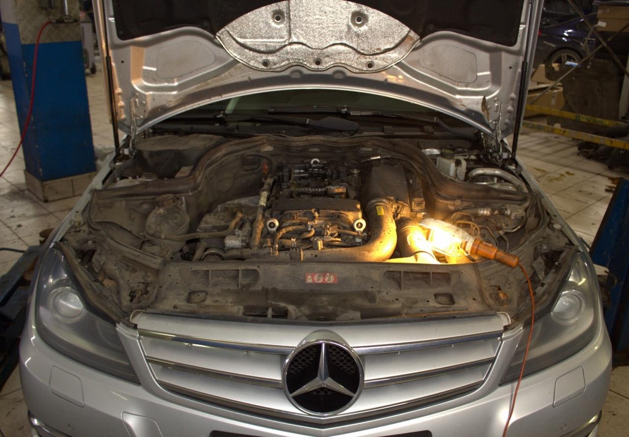 Замена цепи ГРМ Mercedes-Benz C180 W204